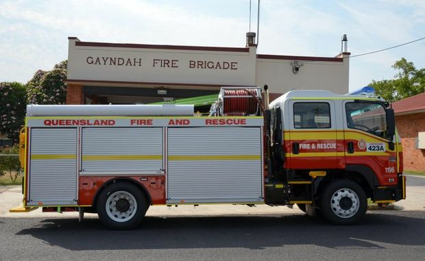 NEW FIRE TRUCK: Gayndah Fire Brigade are the new owners of a new and improved fire truck.